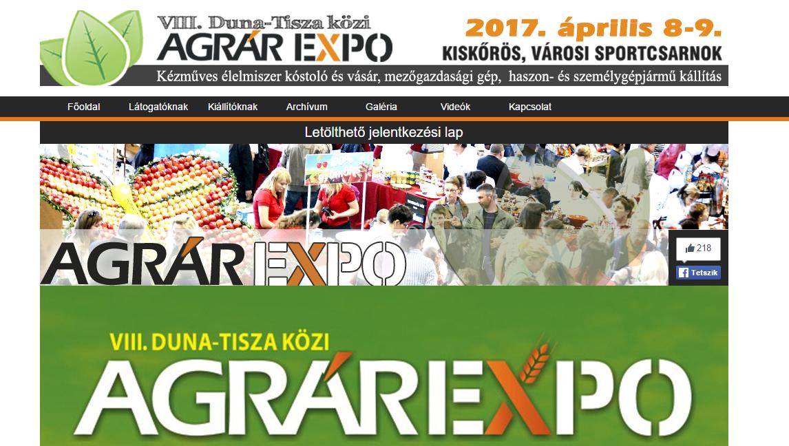 Nyolcadik alkalommal várja látogatóit a kiskőrösi Agrár Expo
