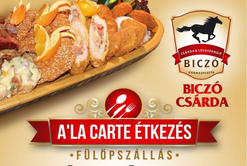 A'la carte étkezéssel bővítette kínálatát a Biczó Csárda Fülöpszálláson