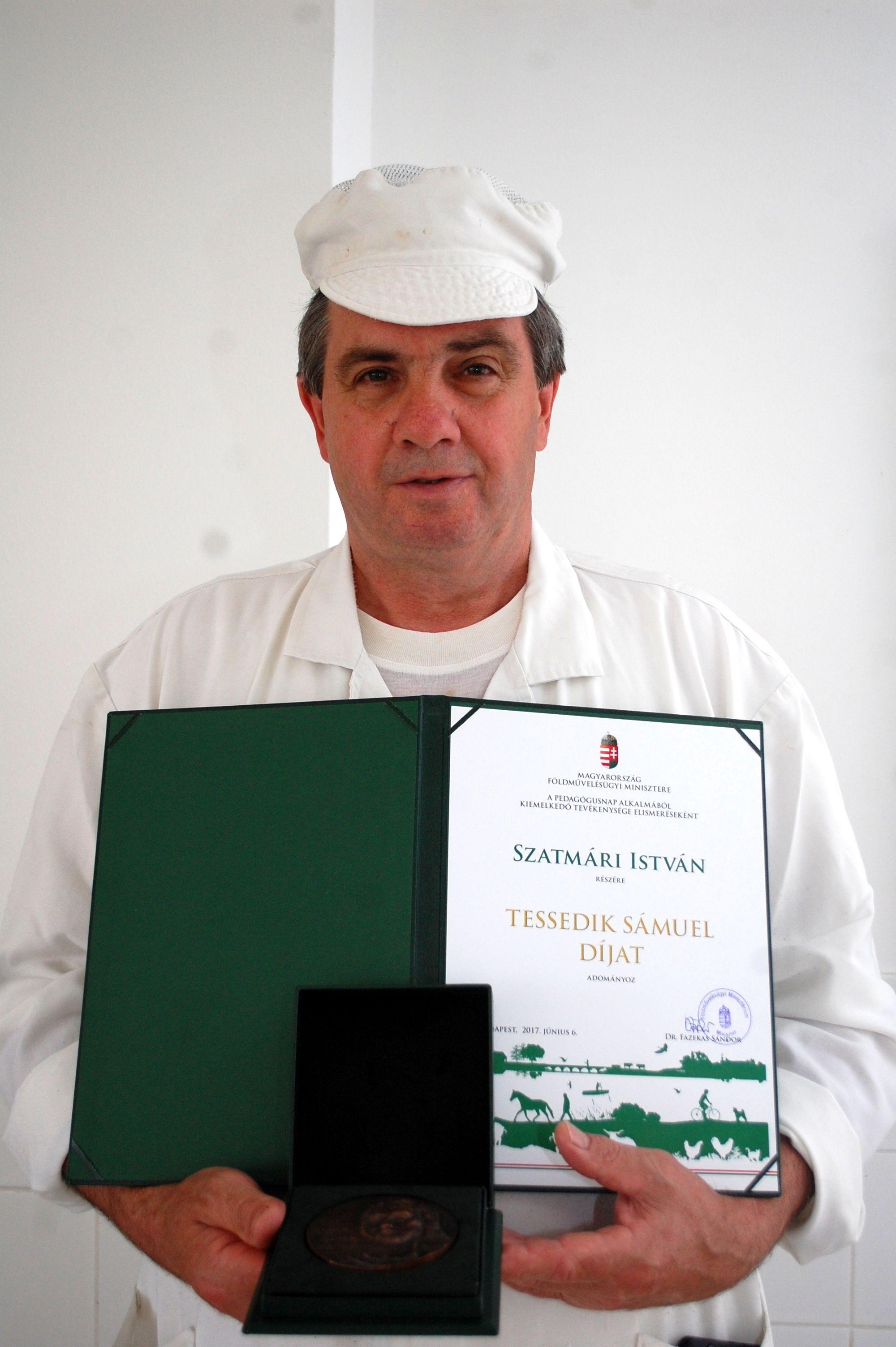 Miniszteri elismerésben részesült a Bugacon élő húsipari szakoktató