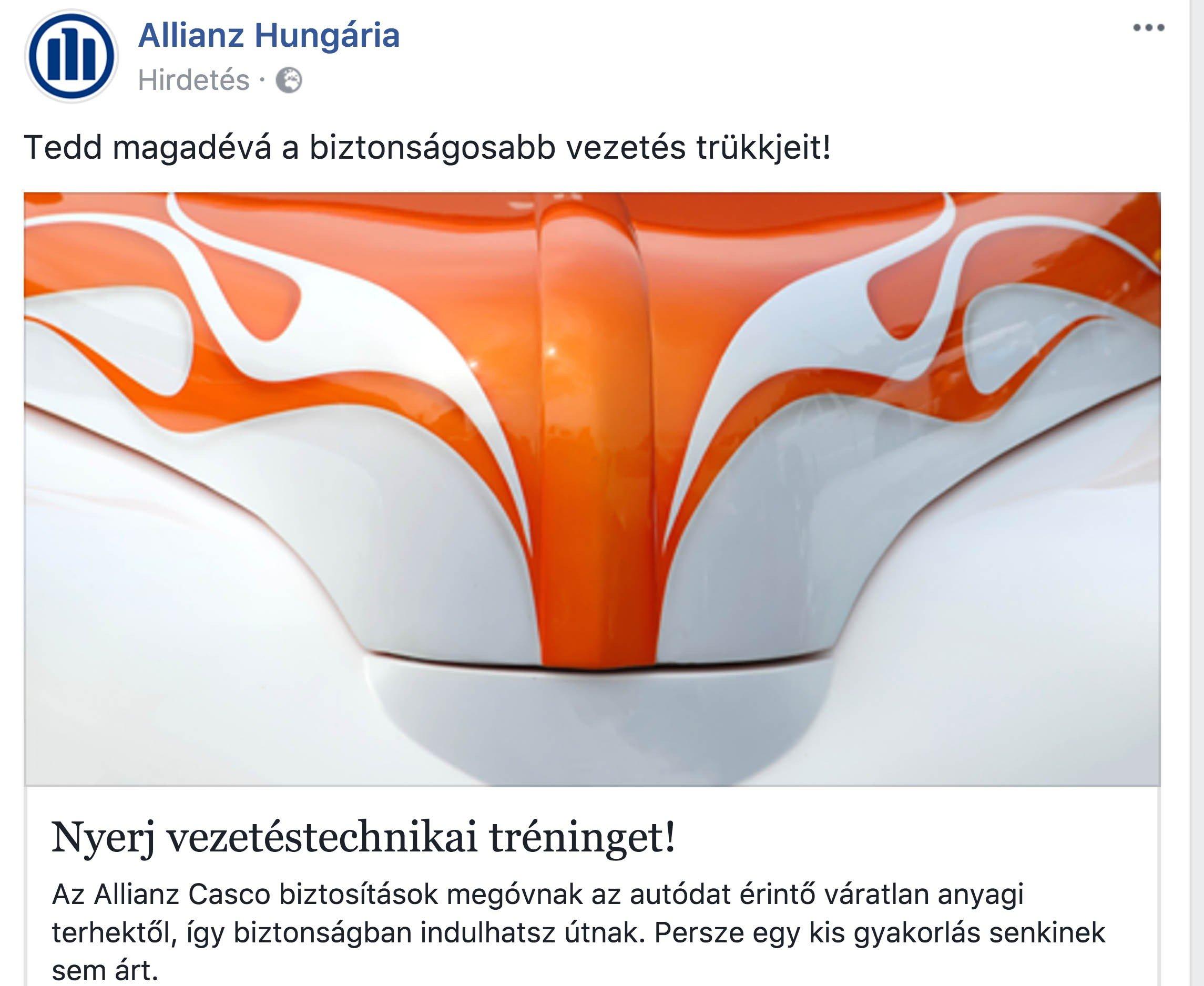 Az Allianz nem tréfál, ha szaxuális hirdetésről van szó