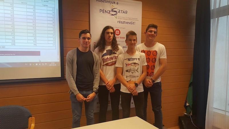 Kecskeméti gimnazisták jutottak a PénzSztár verseny elődöntőjébe
