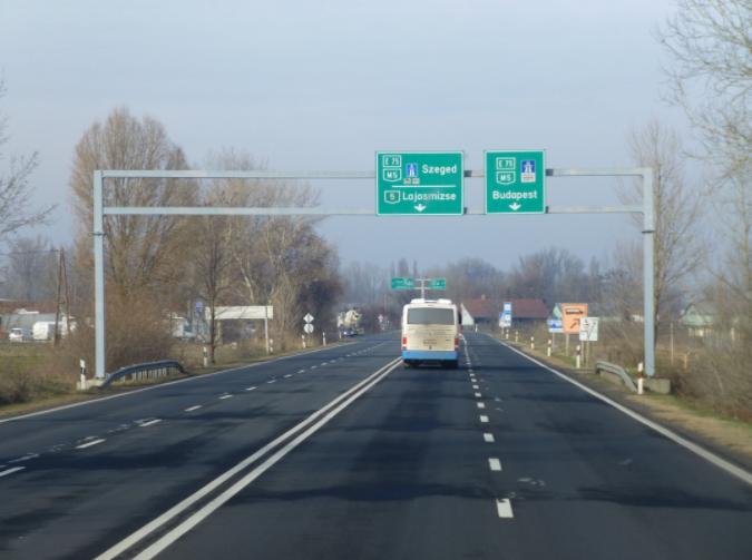 Kunszállásnál is lehajthatunk az autópályáról