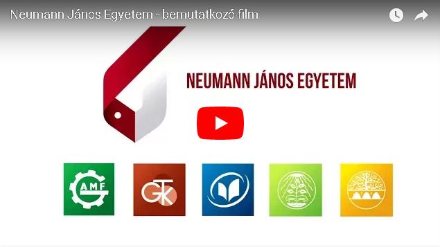 Elkészült a Neumann János Egyetem hivatalos bemutatkozó filmje