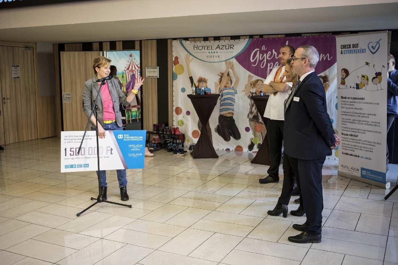 Az SOS Gyermekfalvakban élő gyerekek is átélhették az Azúr élményt
