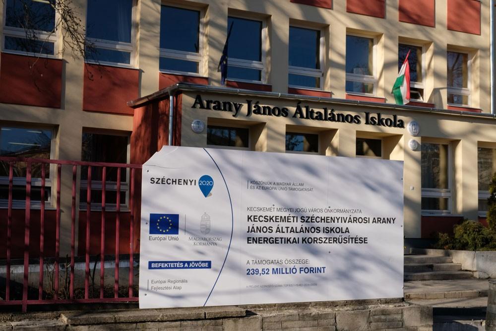 Befejeződött a Széchenyivárosi Arany János Általános Iskola energetikai korszerűsítése