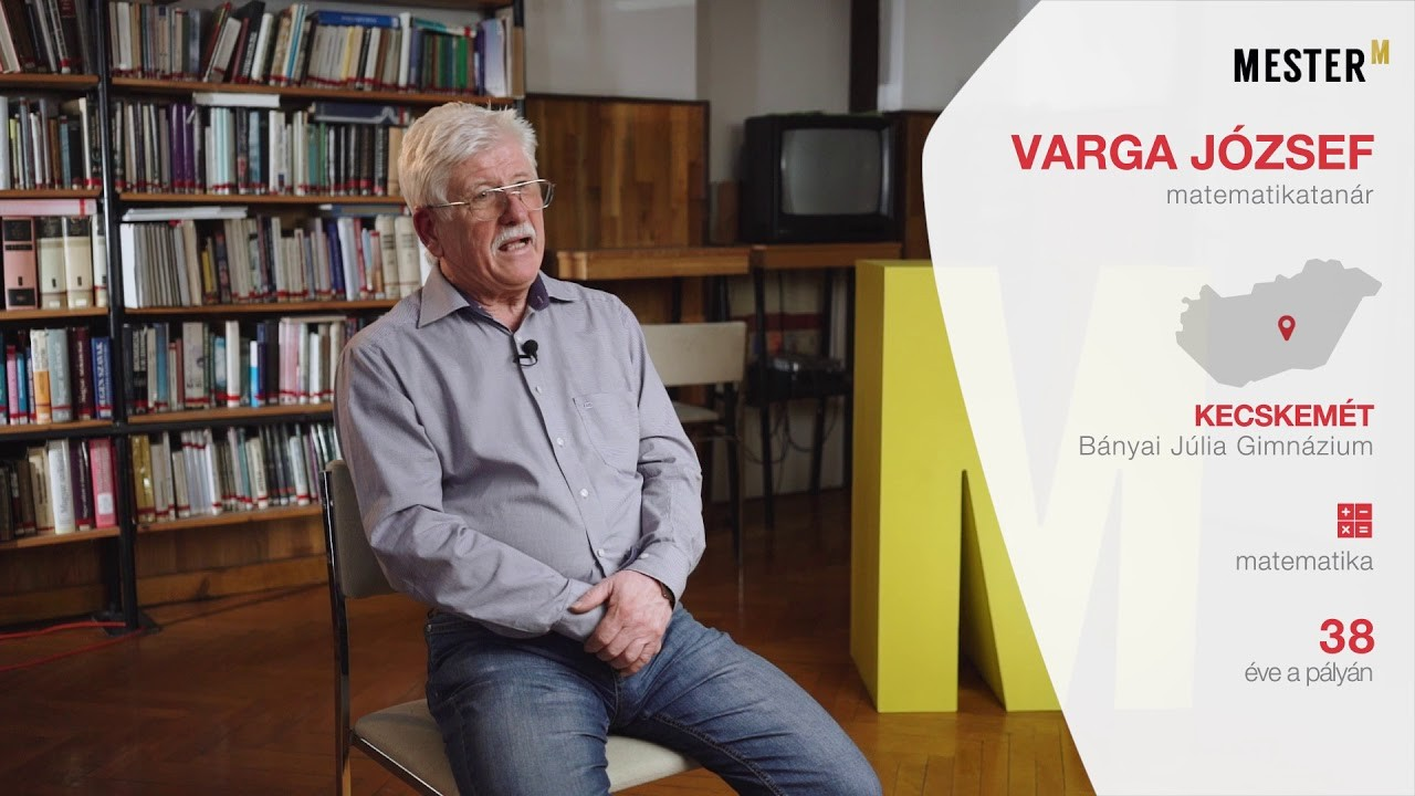 Mol Mester-M díjat kapott Varga József a kecskeméti Bányai Gimnázium matematikatanára