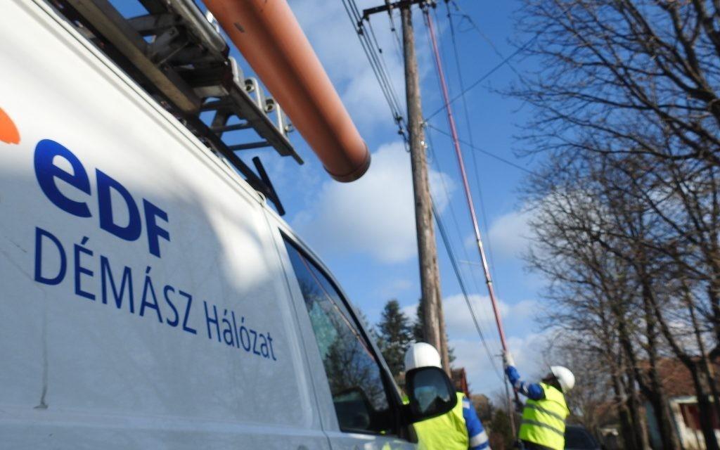 Soltvadkerten hálózatépítést, Kecskeméten karbantartást végez az áramszolgáltató