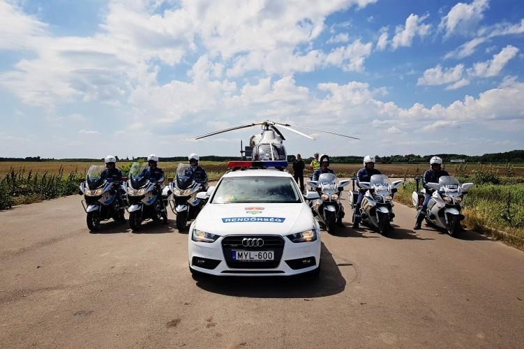 Ismét a légtérből figyeltek a Bács-megyei rendőrök