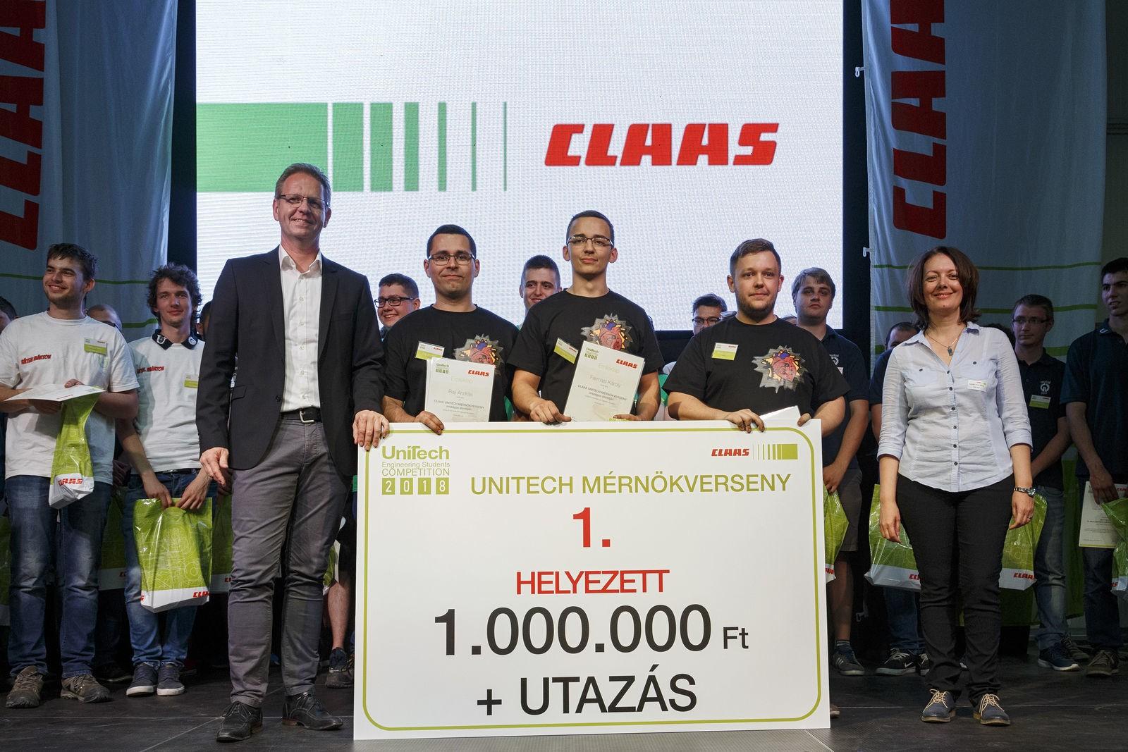 A Neumann János Egyetem mérnökhallgatói nyerték meg idén a Claas Unitech versenyét