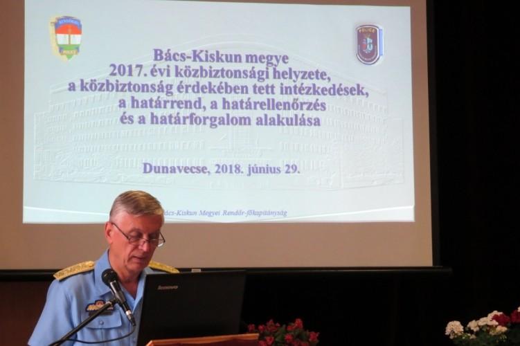 Beszámolt Bács-Kiskun megye Rendőrkapitánya