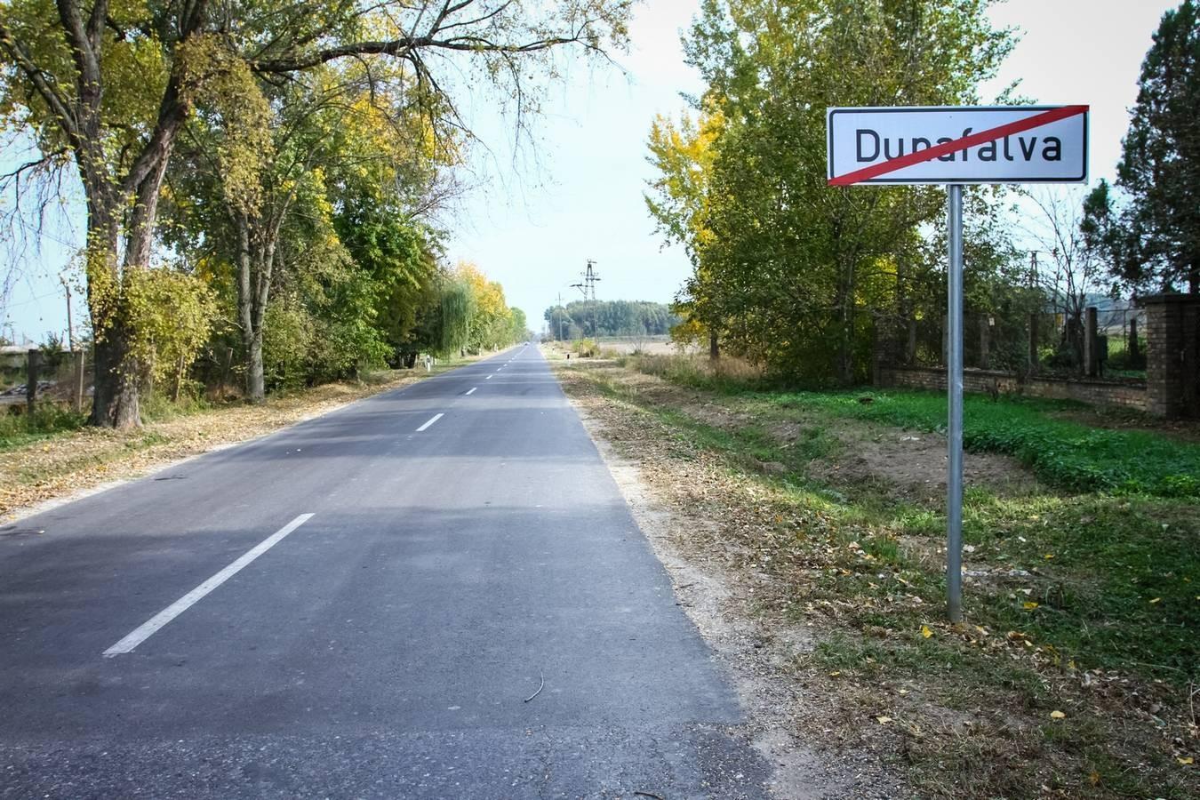 Biztonságosabb utakon Dunafalván is