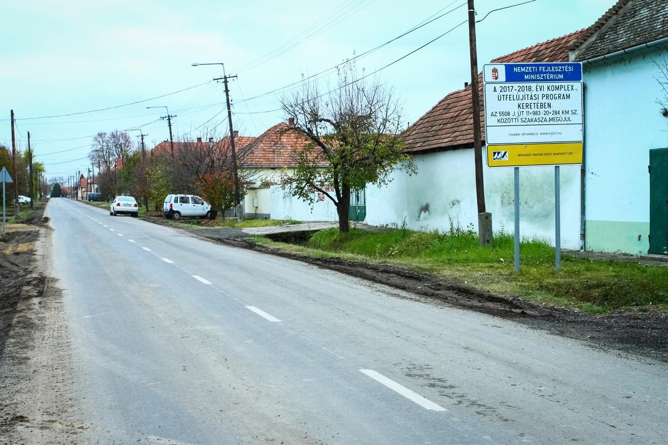 Biztonságosabb úton Katymár és Bácsborsód között is