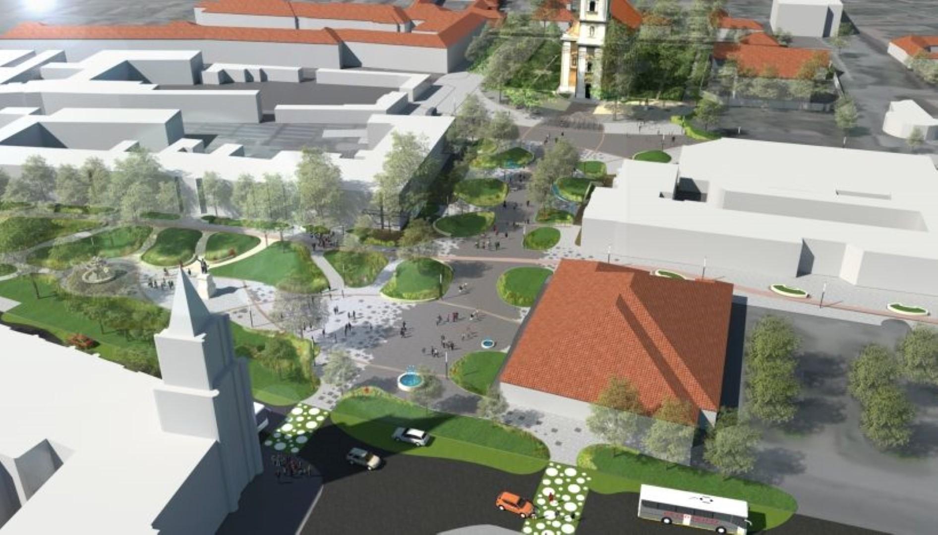Megkezdték a Zöld város kivitelezési munkálatait Félegyházán