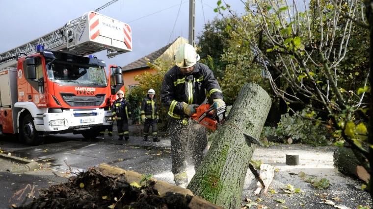 Főként fakidőlések és a sok esővíz miatt riasztották a tűzoltókat