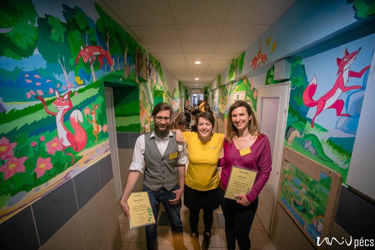 A Pécsi Gyermekklinikát díszíti az ország első interaktív mesefala