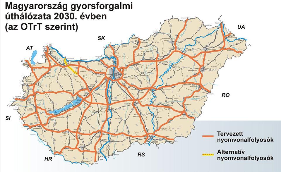 Két nagy útprojektet terjeszt a kormány Brüsszel elé jóváhagyásra
