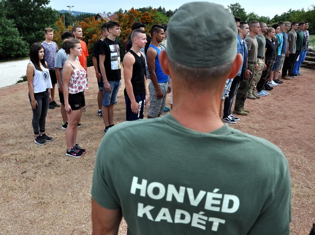 Csapatépítő tábort tartanak Pákozdon a honvéd kadétképzés elsőseinek