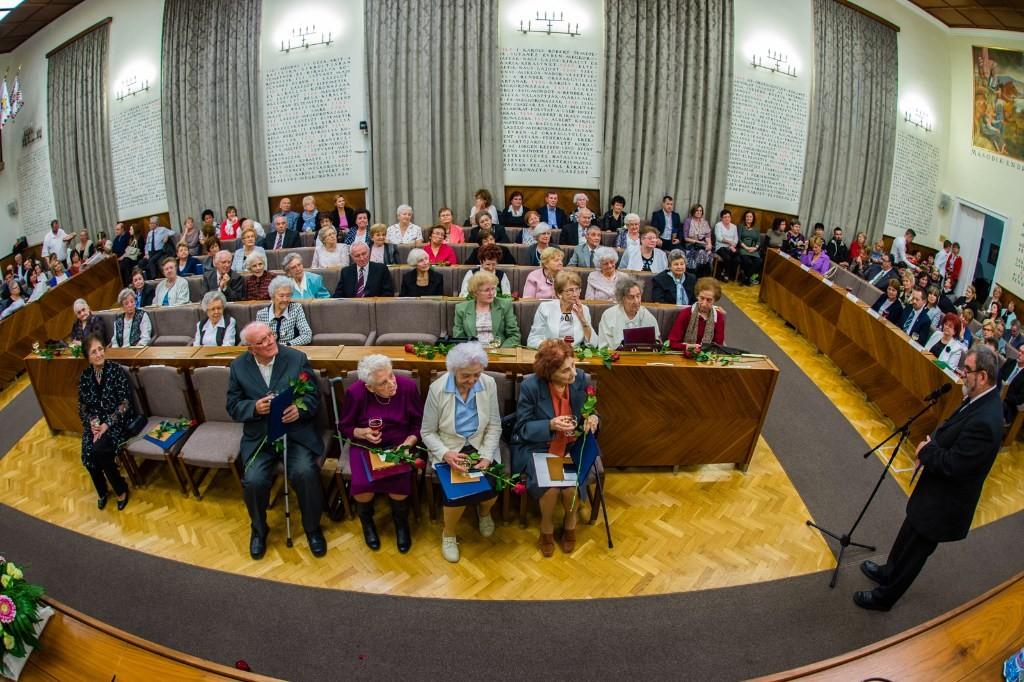 Székesfehérvár emlékdiplomás pedagógusait köszöntötték a városházán