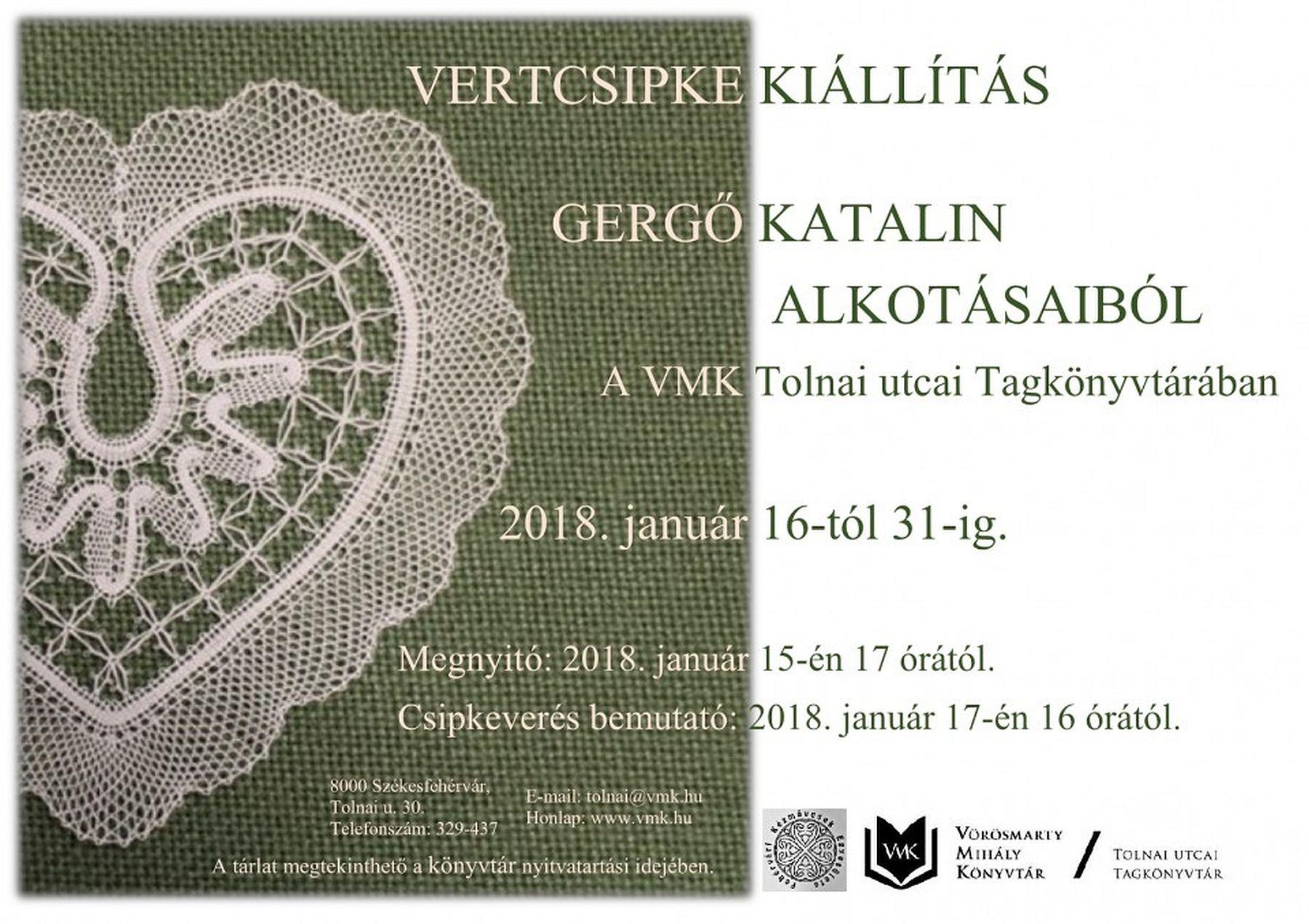 Csipkecsodákból nyílik kiállítás Székesfehérvár Tolnai utcai Tagkönyvtárban