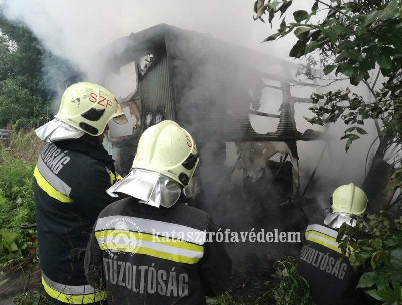 Szabadnapos fehérvári tűzoltó vette észre a méteres lángokat