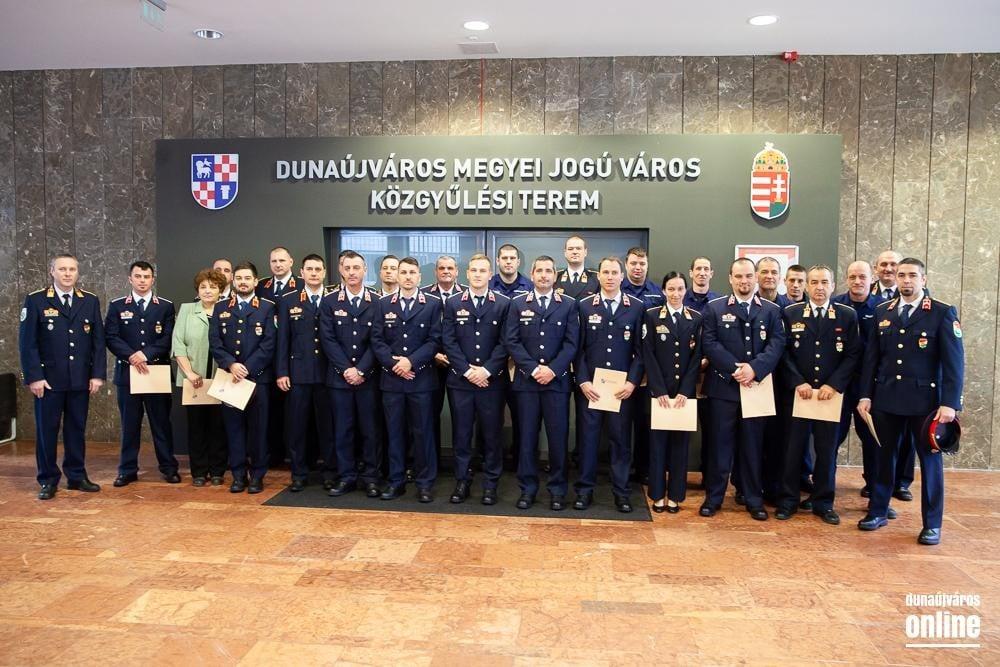 Elismerték a dunaújvárosi kataszrófavédelem és tűzoltó-parancsnokság munkáját
