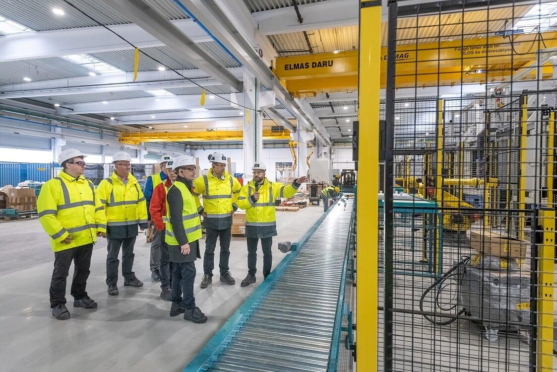Hamarosan elkészül az Arconic-Köfém Kft. új, húszezer négyzetméteres székesfehérvári gyártócsarnoka