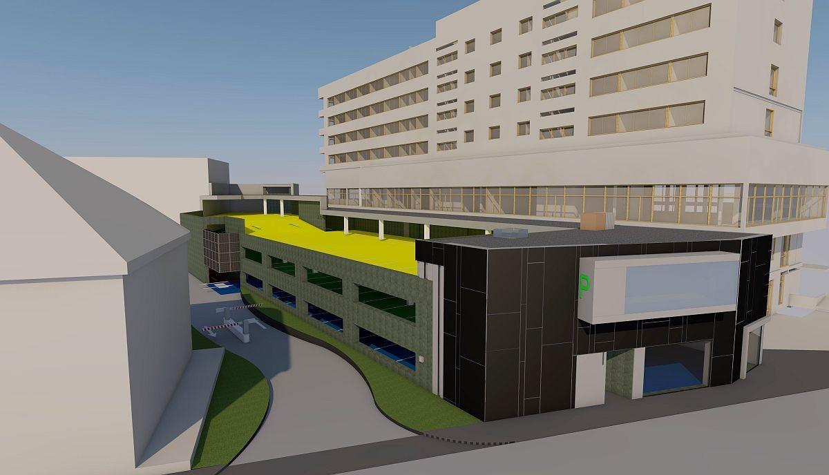 Jövő év elejére készül el az első székesfehérvári parkolóház