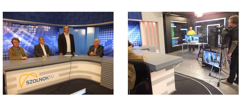 A Szolnok Tv új stúdiójában, világszínvonalú fejlesztések