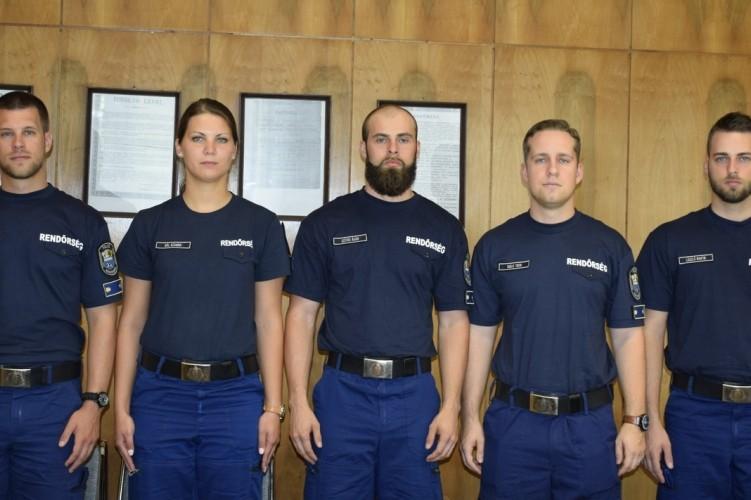 Új rendőrtisztek Jász-Nagykun-Szolnok megyében