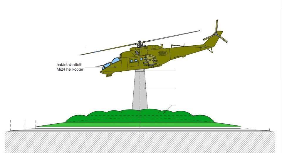 Harci helikopterből lesz emlékmű Szolnokon