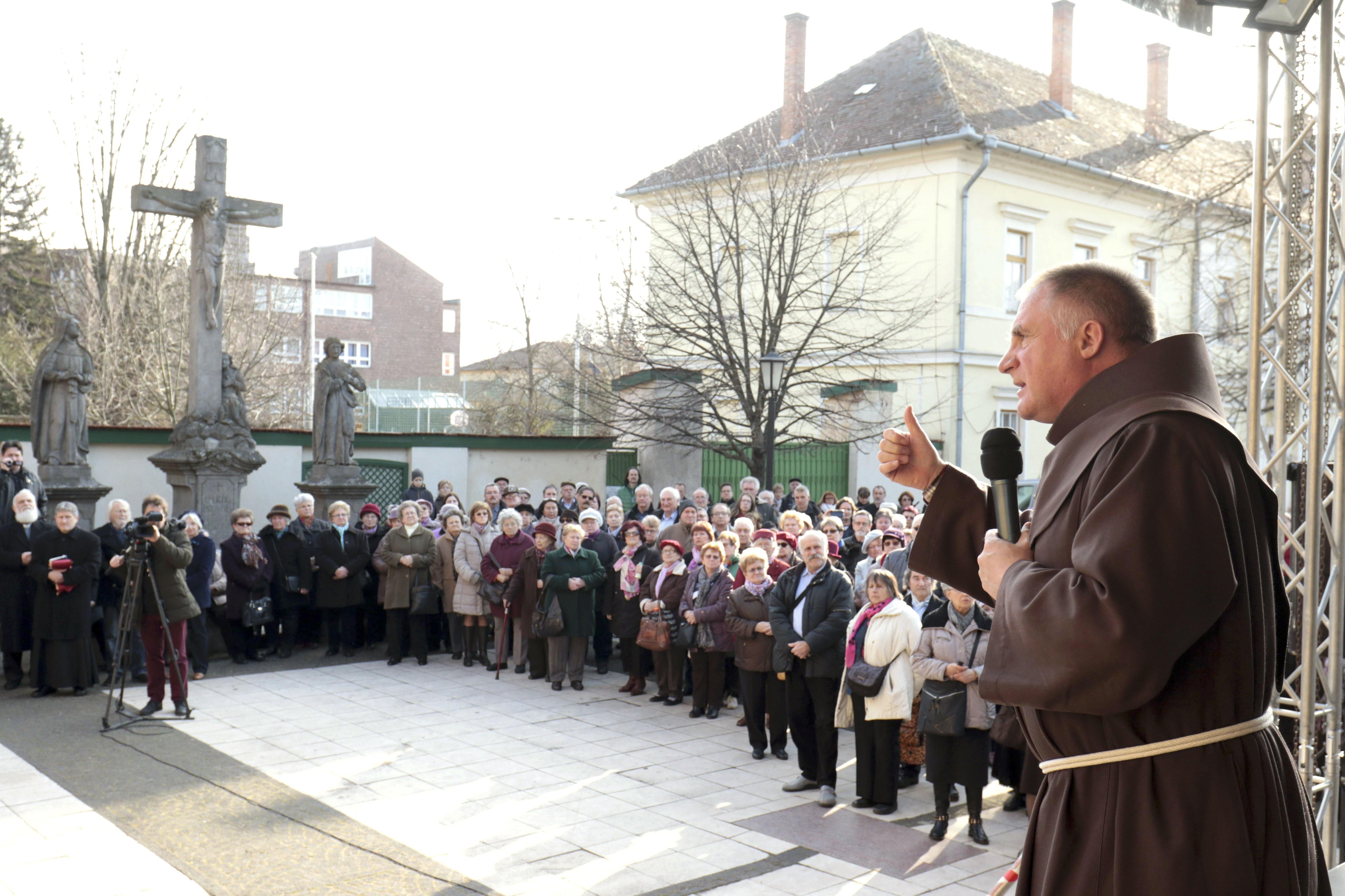 Böjte atya szólalt fel Szolnokon a székely szabadság napján