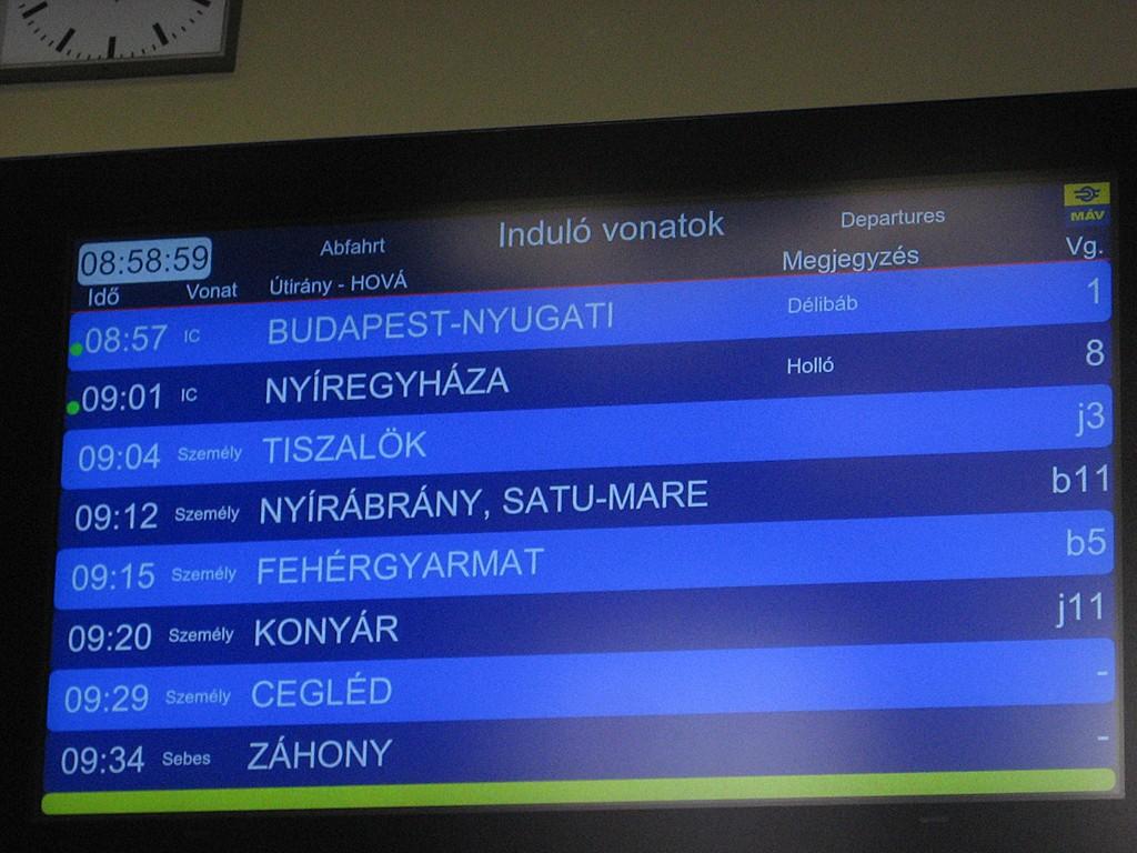 Szolnokon is fejleszti utastájékoztatási rendszertét a MÁV