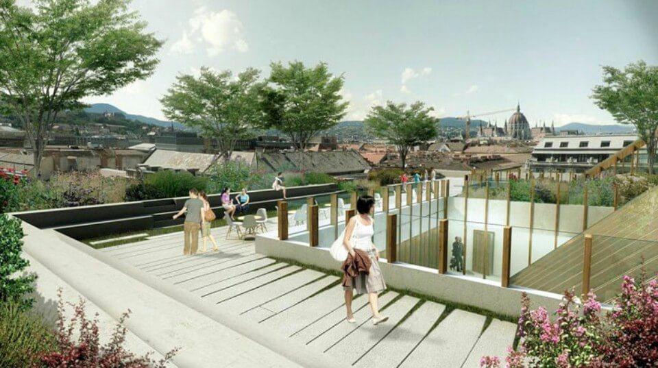 Market Építő: elérte legmagasabb pontját a pesti belvárosban épülő campus