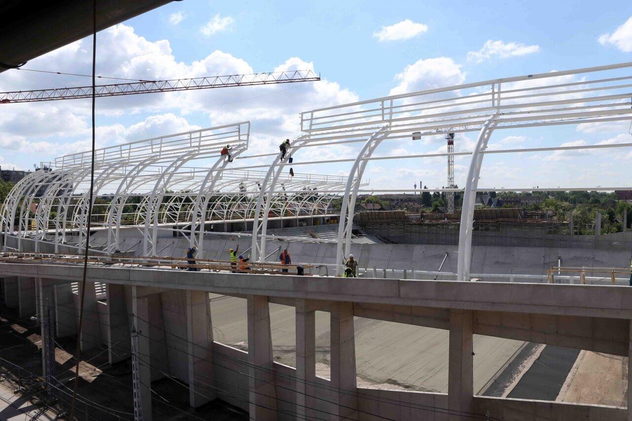 ZÁÉV: mérföldkőhöz ért az új Hidegkuti Nándor Stadion építése
