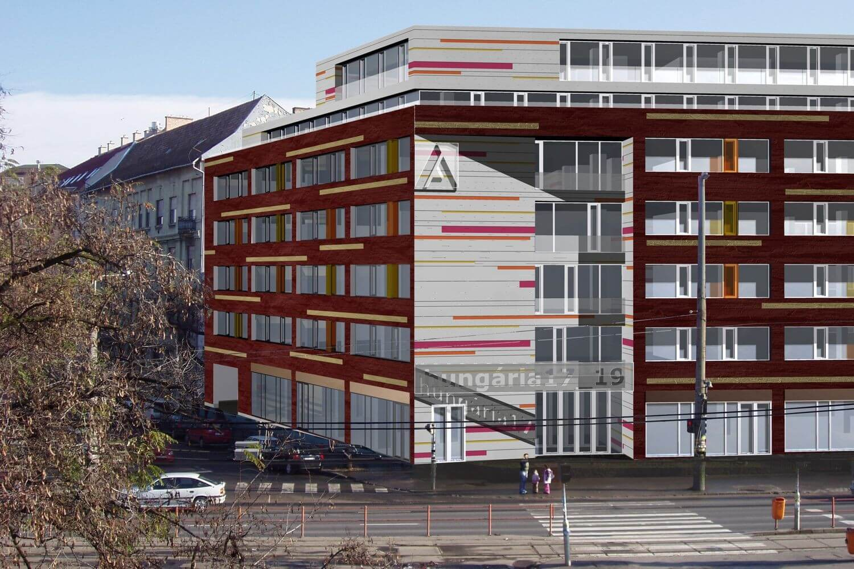 Irodaházzá válik a Hungária körút évek óta befejezetlen épülete
