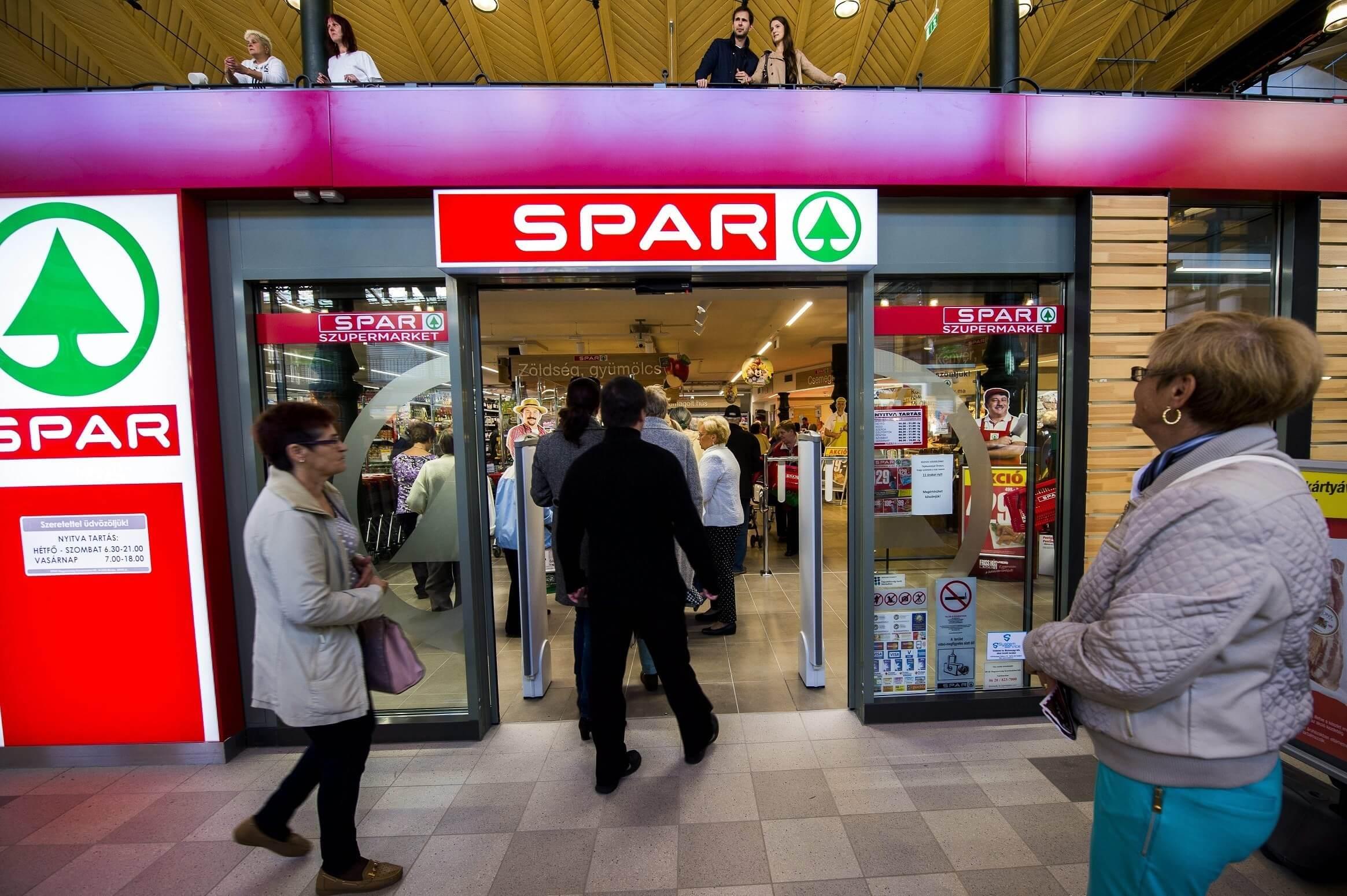 Hét magyarországi üzletét is átépítette a Spar