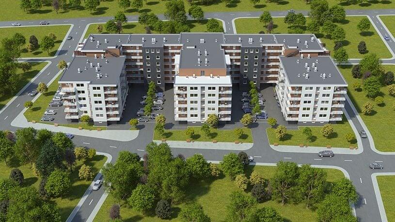 Májusra elkészül a hatemeletes lakópark Győrszigetben