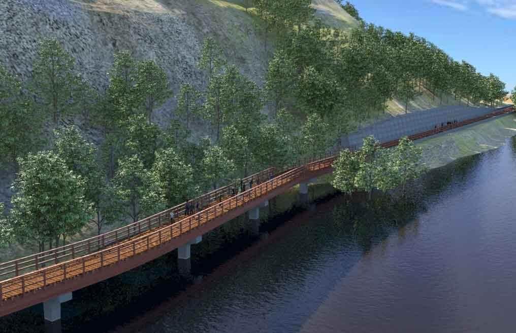 Különleges kerékpárutat épít Érd a Duna fölött
