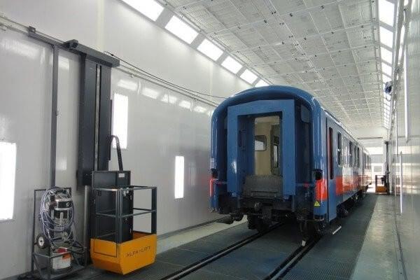 Új fényező kabin gyorsítja a MÁV járműfelújításait
