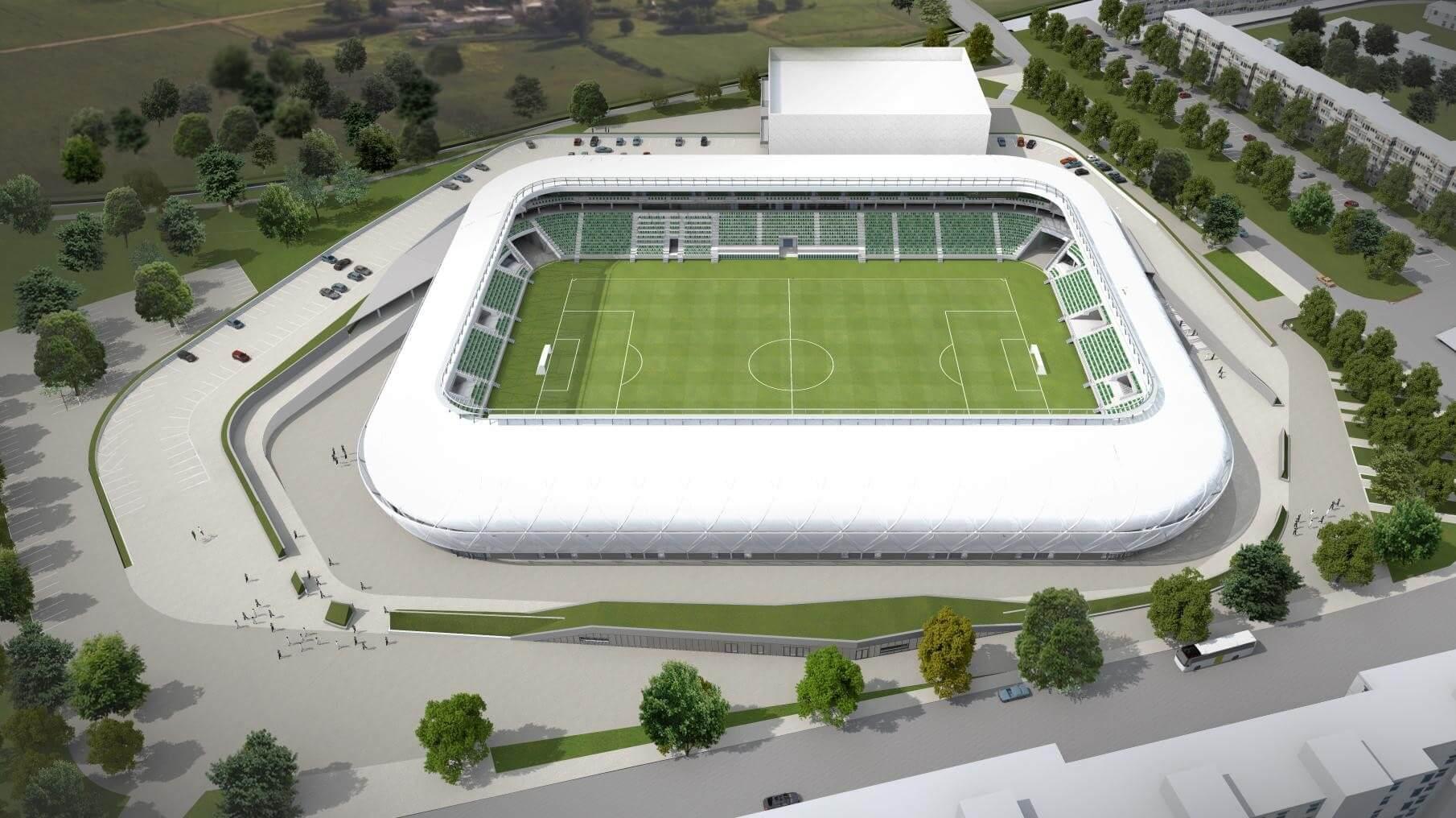 Itt tart a szombathelyi Haladás stadion építése
