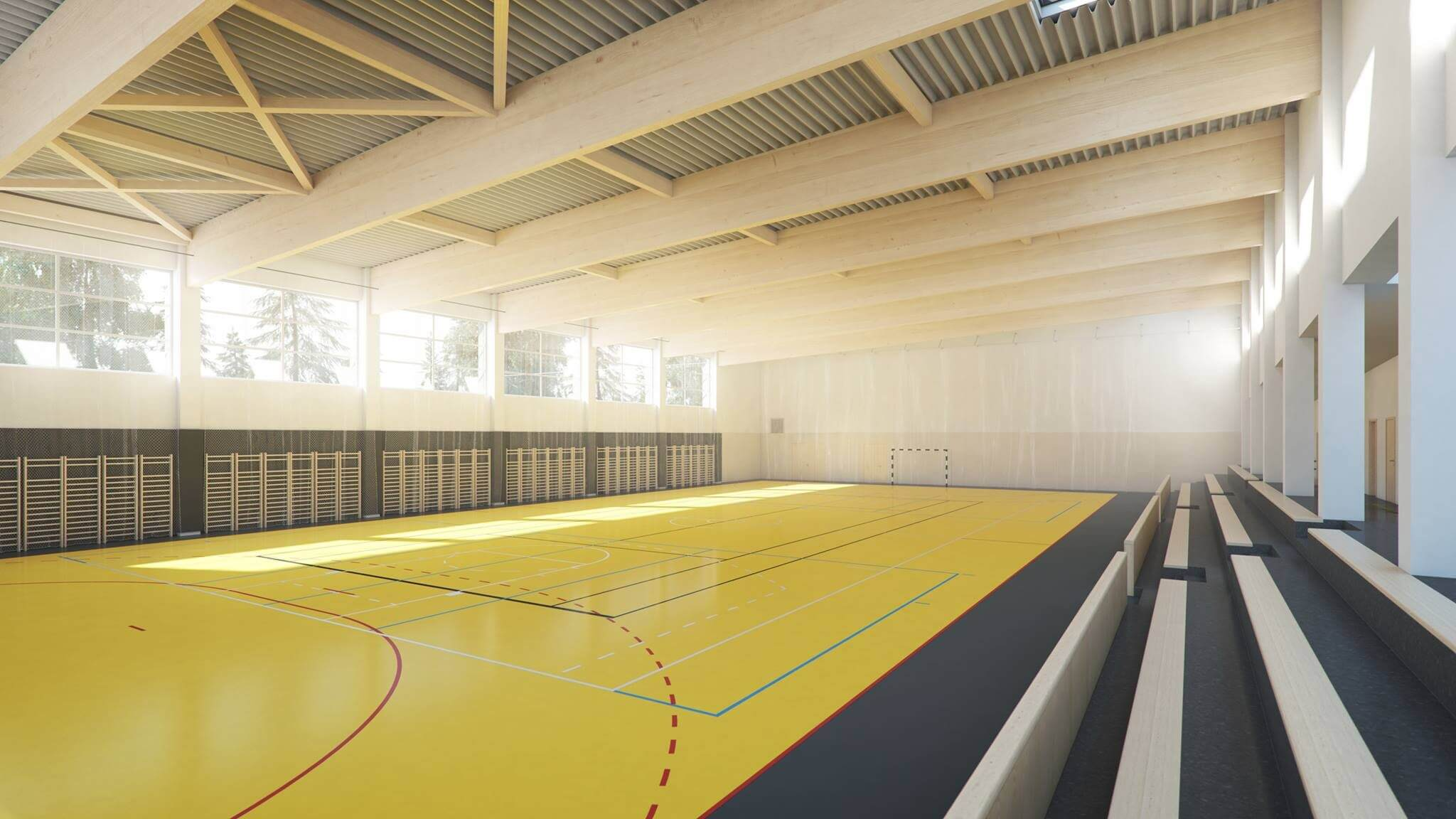 Közel jár a kelebiai sportcsarnok befejezéséhez a Merkbau