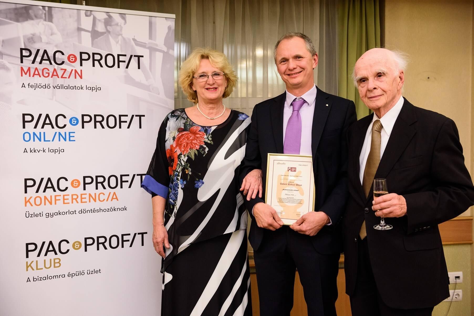 Etikai díjjal jutalmazták a Mapei üzletpolitikáját