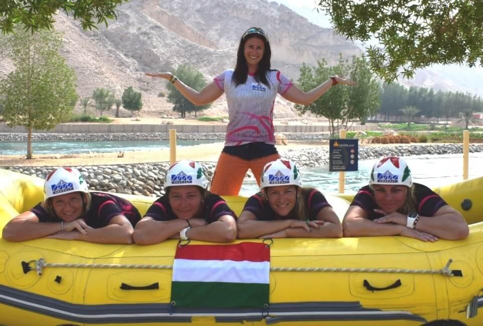 Letette a névjegyét a rafting vb-n a Duna Aszfalt támogatta női válogatott