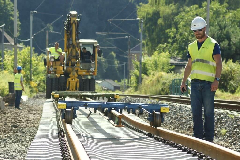 Az Elba völgyében végzett vasútépítési munkákat az A-HÍD