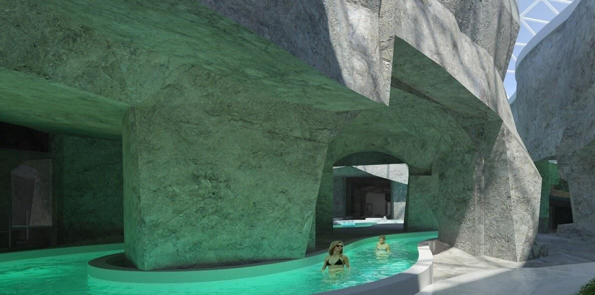 A világon egyedülálló fürdőt tervez a föld alá Diósd