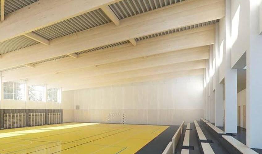 A helyi cégek támogatásával épült sportcsarnok Lipóton