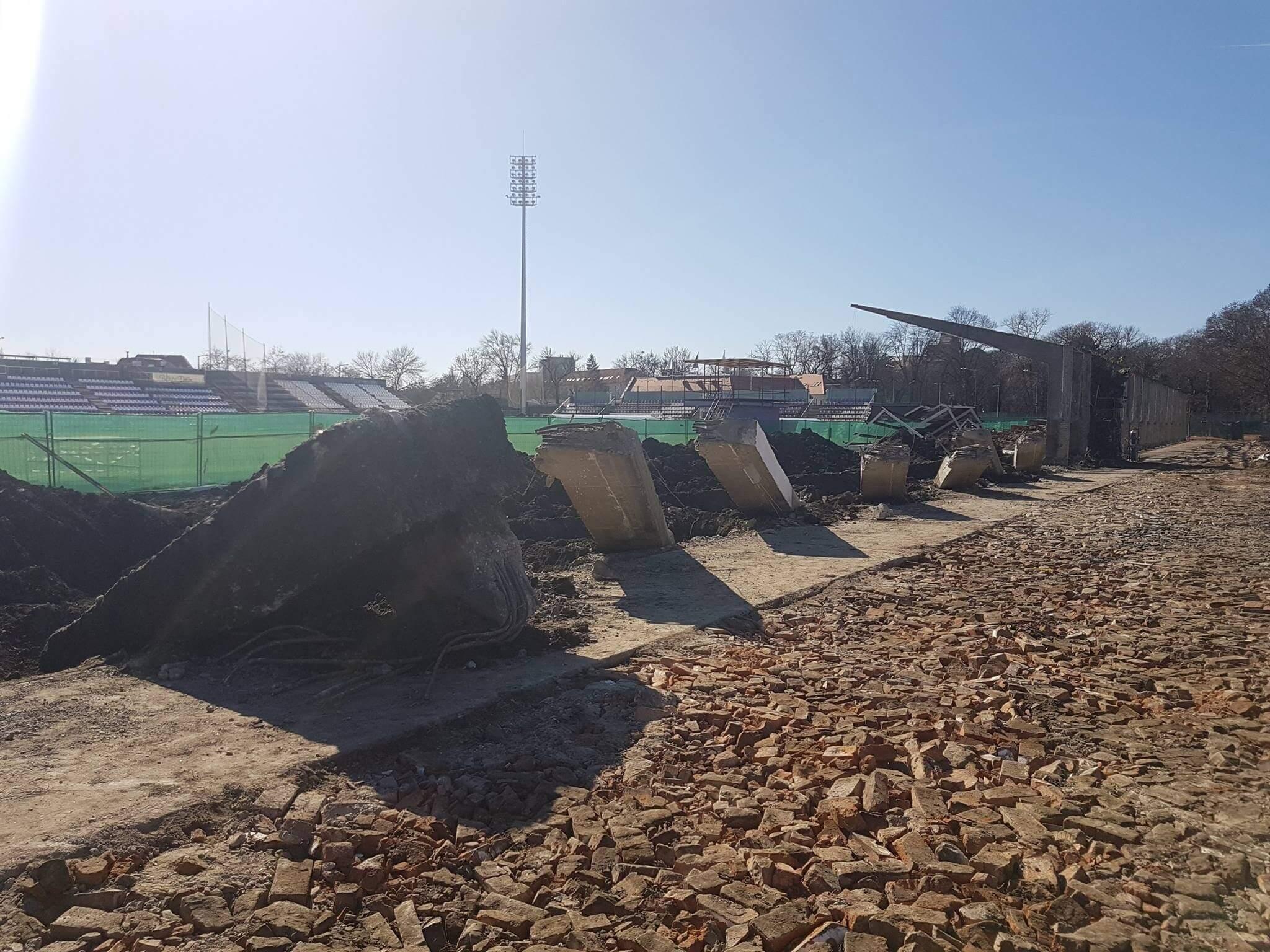 Még idén elkészül Békéscsabán a Kórház utcai stadion felújítása