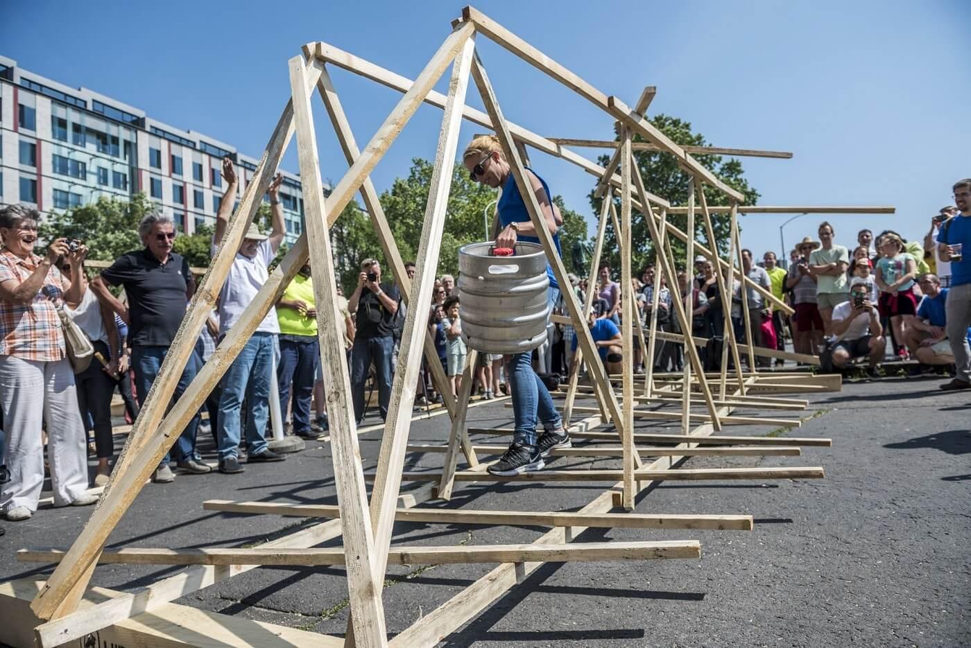 Megtartották a hídépítő szakma legnagyobb ünnepét a Lánchídnál