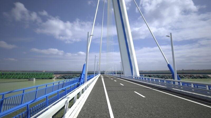 Kiderült, ki építi fel az új komáromi Duna-hidat