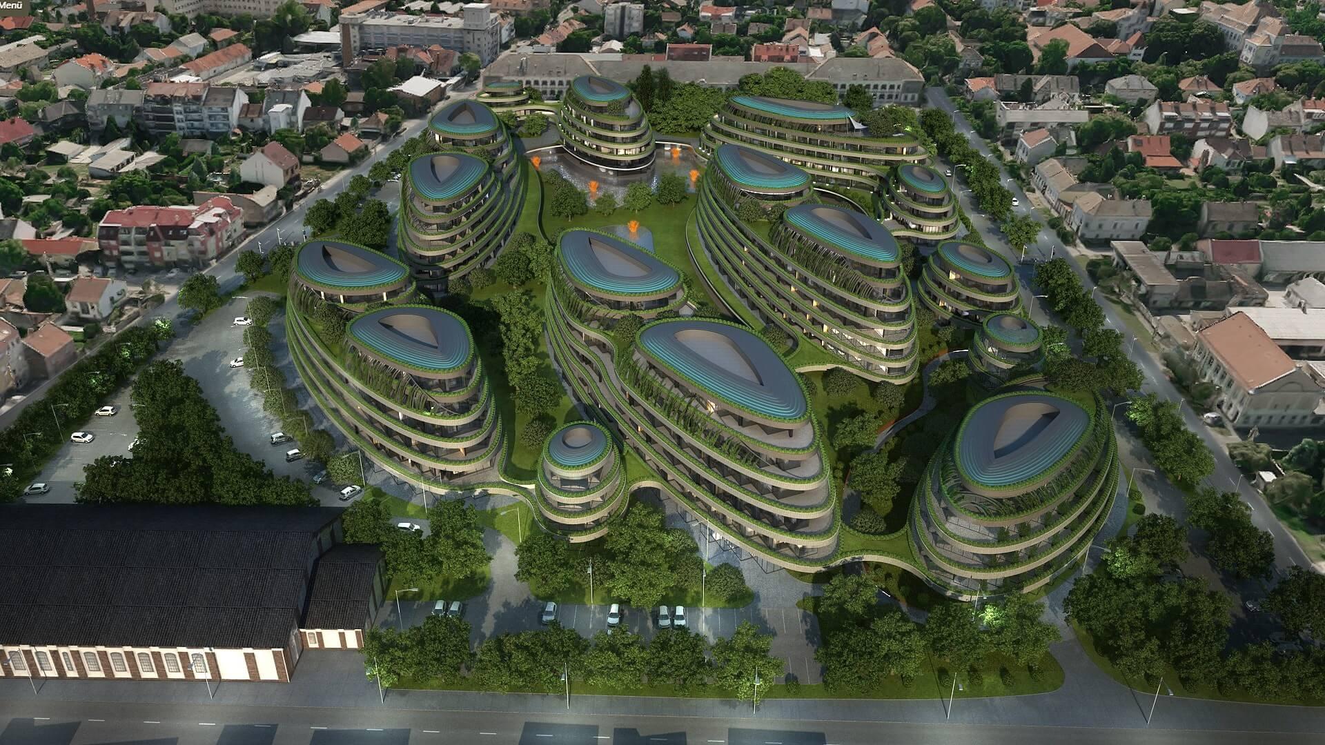 Futurisztikus zöld lakópark épül Szegeden
